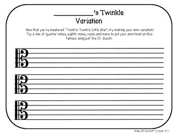 Compose Your Own Twinkle Variation!