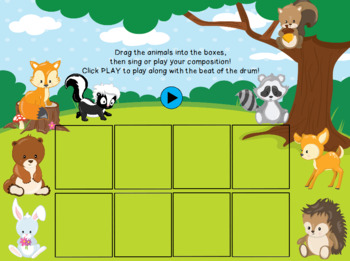Compose a song! Woodland Animals themed