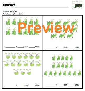 Compose and Decompose Numbers 11-19 ERIC CARLE, Place Value, Differentiated!