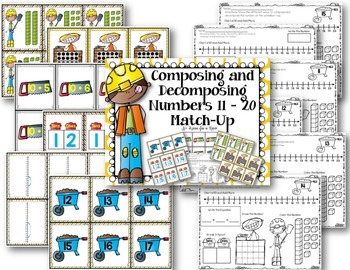 Compose and Decompose Numbers 11 - 20 Match-Up