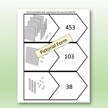 Compose and Decompose Numbers - Matching Card Activity