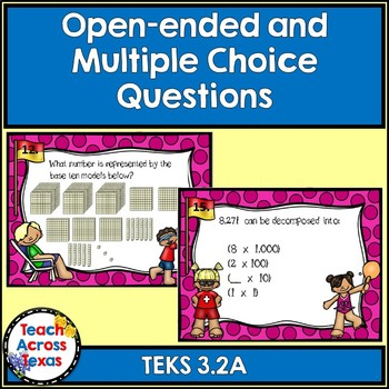 3.2A Compose and Decompose Numbers to 100,000 Computation Task Cards STAAR