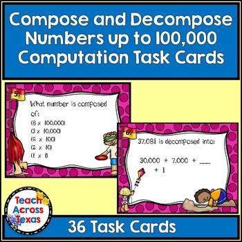 Compose and Decompose Numbers to 100,000 Computation Task