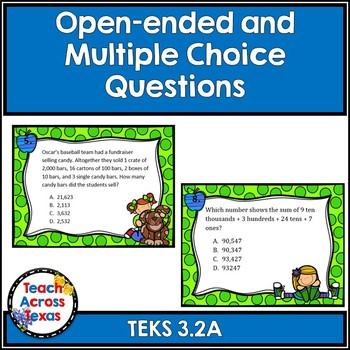 3.2A Compose and Decompose Numbers to 100,000 Word Problems Task Cards STAAR