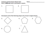 Compose and Decompose Shapes 1.G.3 Common Core Aligned