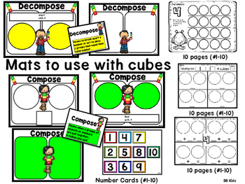 Compose and Decompose in Kindergarten / Math Mats and Activity Pages