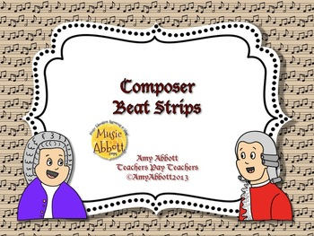 Music Composer Beat Strips & Composition Cards for Rhythmic Practice
