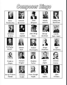 Composer Bingo