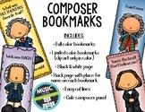 Composer Bookmarks BUNDLE   Distance Learning