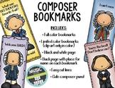 Composer Bookmarks 1 (Bach, Handel, Beethoven, Liszt)
