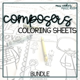 Composer Coloring Sheets: BUNDLE
