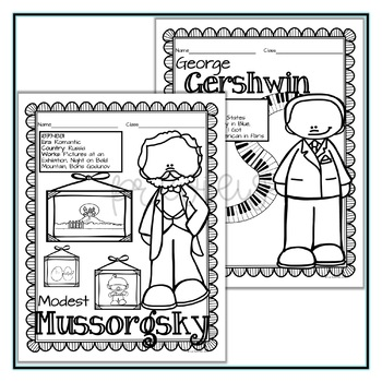 Composer Coloring Sheets: BUNDLE