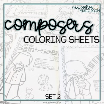 Composer Coloring Sheets: Set 2