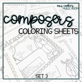 Composer Coloring Sheets: Set 3