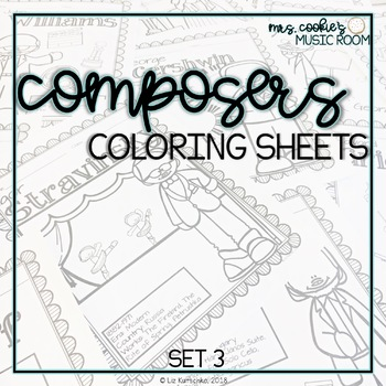 Composer Coloring Sheets: Set 3