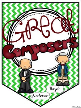 Composer Corner Banner (Music Room Decor) - PDF Edition (Printable)