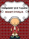 Composer Exit Tickets: Mozart