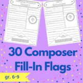 Composer Fill-In Flags (Music History Activity)