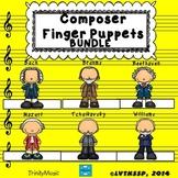 Composer Finger Puppets BUNDLE (for listening)