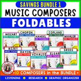 Music Composers: Music Listening Activities: Savings Bundle 1