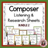 Music Composers: Music Listening Activities: Savings Bundle 2