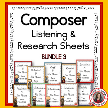 Music Composers: Music Listening Activities - Savings Bundle 3