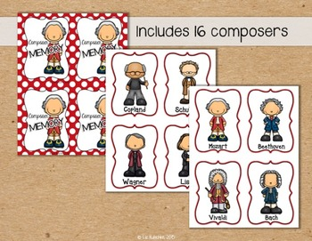 Composer Memory Card Game