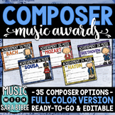 Composer Music Awards -Color Version- *EDITABLE*