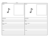 Composer Notebook Fill-in Page