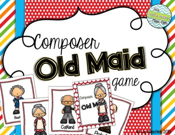Composer Old Maid Card Game