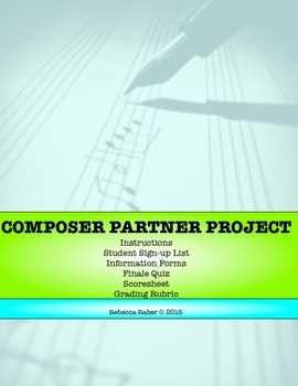 Composer Partner Project (UPDATED AND EXPANDED!) Classroom Assignment
