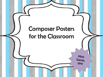 Composer Posters for the Classroom