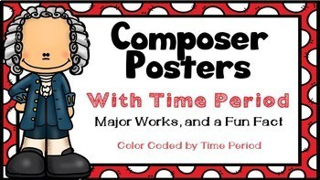 Composer Posters with Musical Periods