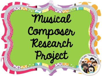 MUSICAL COMPOSER RESEARCH PROJECT OUTLINE / QUESTIONNAIRE (EDITABLE)