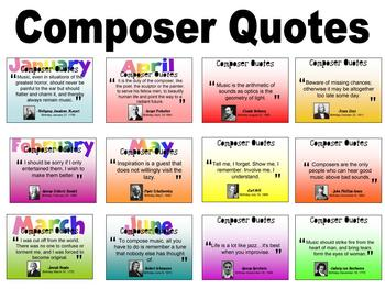 Composer Quotes Display for Music Classroom