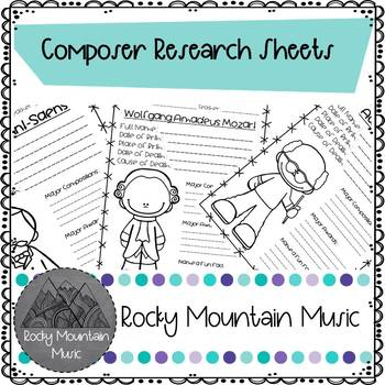 Composer Research Sheets
