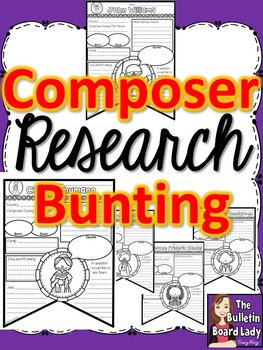 Composer Research Sheets - Bunting Style