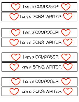 Composer/Songwriter Bracelets