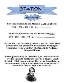 Composer Station Activity- Mozart