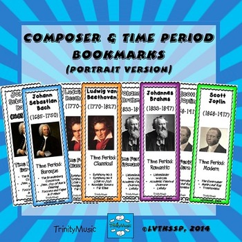 Composer & Time Period Bookmarks (portrait version)