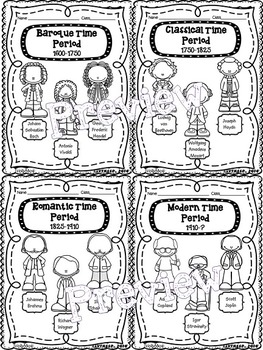 Composer & Time Period Coloring Pages