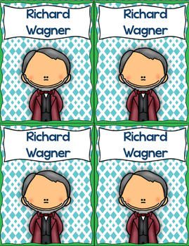 Composer Trading Cards {Romantic Composers Set 2}