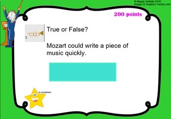 Composer Trivia Bundle - Beethoven Mozart Williams - Elementary Music Jeopardy