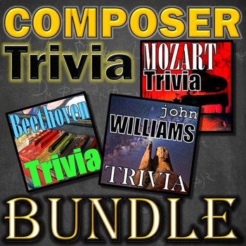 Composer Jeopardy Bundle - Beethoven Mozart Williams - ELEM MUSIC Smart Board