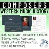 Composer Unit with Presentations & Guided Notes