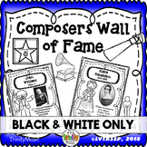 Composer Wall of Fame (Only in Black & White)