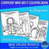 Composer Who Am I? Coloring Book (Reproducible)