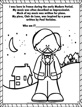 Composer Who Am I? Coloring Book FREEBIE