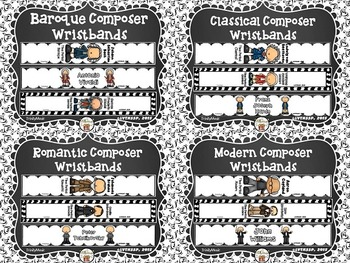 Composer Wristbands (Bracelets)