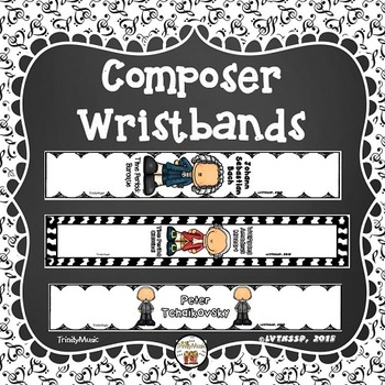 Composer Wristbands (Bracelets) Sampler